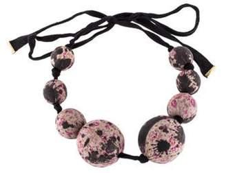 Louis Vuitton Silk Sphere Choker Necklace Black Silk Sphere Choker Necklace