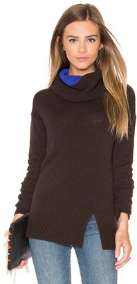 Autumn Cashmere Two Tone Turtleneck Sweater $352 thestylecure.com
