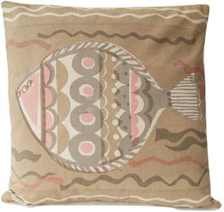 Epping Smith Hand Printed Cushion Large Fish Pink Clay Small
