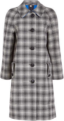 Burberry Walkden Check Wool Coat