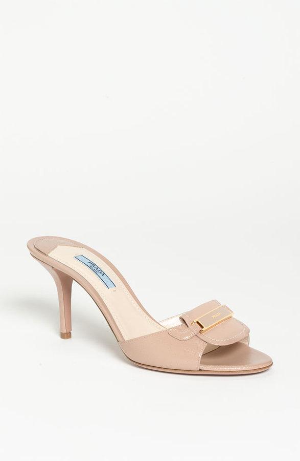 Prada Buckle Slide Sandal
