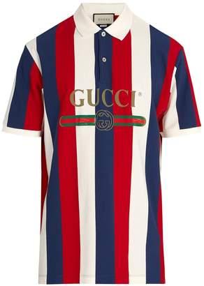 Gucci Baiadera stripe polo shirt