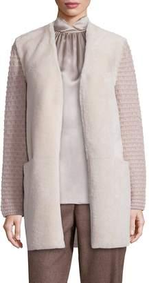 Lafayette 148 New York Women's Cashmere & Shearling Jacket