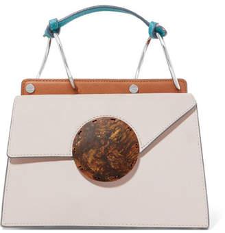 Lente Danse Phoebe Bis Mini Color-block Textured-leather Shoulder Bag - Cream