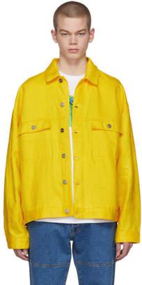 Etudes Yellow Linen Denim Vertige Jacket