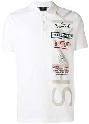 Paul & Shark embroidered logo polo T-shirt