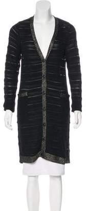 Louis Vuitton Silk-Blend Long Cardigan w/ Tags