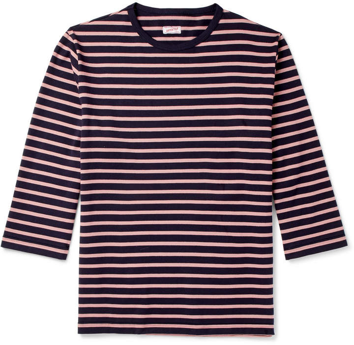 Arpenteur Brehat Striped Cotton-Jersey T-Shirt