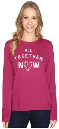 Life is good All Together Now Long Sleeve Crusher Tee $30 thestylecure.com
