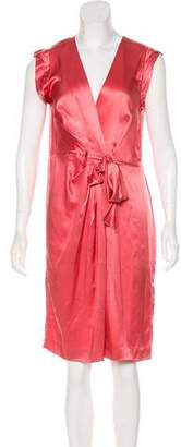 Philosophy di Alberta Ferretti Silk Knee-Length Dress w/ Tags