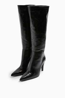 Topshop TAYLOR Leather High Leg Boots
