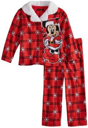 Disney Disney's Minnie Mouse Toddler Girl Christmas Top & Bottoms Pajamas