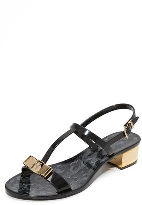 Salvatore Ferragamo Favilia Jelly City Sandals $280 thestylecure.com
