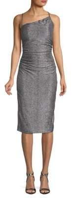 Laundry by Shelli Segal Metallic Ruched Sheath Dress