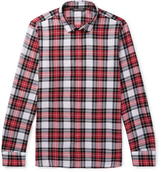Neil Barrett Embellished Checked Cotton Shirt - Red