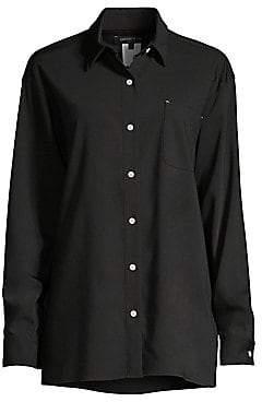 Lafayette 148 New York Women's Everson Stretch Wool Shirt