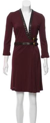 Gucci Knee-Length Belted Wrap Dress