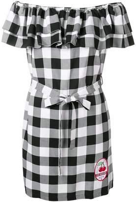 Love Moschino checked bardot dress