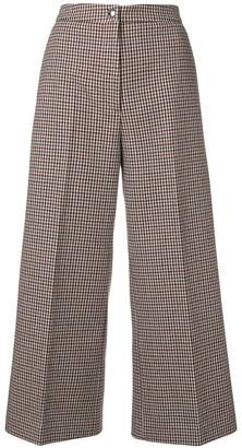 MSGM dogtooth cropped trousers