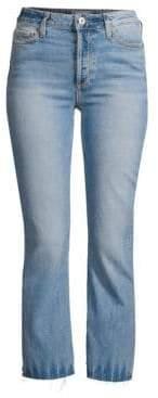 Paige Vintage Colette Crop Flare Raw Hem Jeans