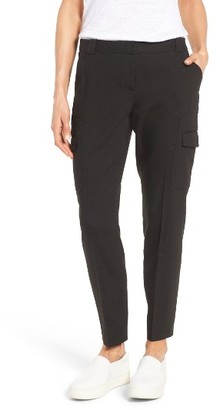 Women's Nordstrom Collection Linen Blend Cargo Trousers $199 thestylecure.com