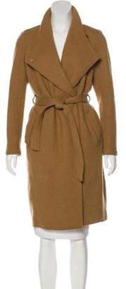Maison Scotch Wool Knee-Length Coat