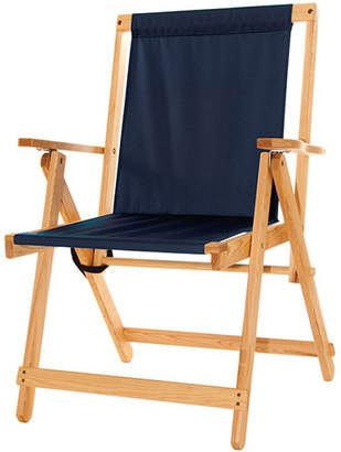 "Blue Ridge Chair Works Wood & Canvas Deck Chair ""Highlands"""