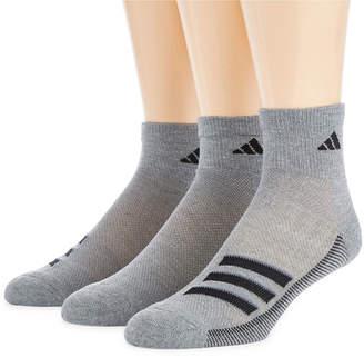 adidas 3 Pair Quarter Socks-Mens