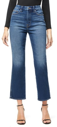 Good American Good Curve Western Yoke High Waist Straight Leg Jeans