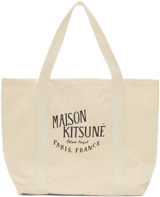 MAISON KITSUNÉ Off-White Palais Royal Shopping Tote