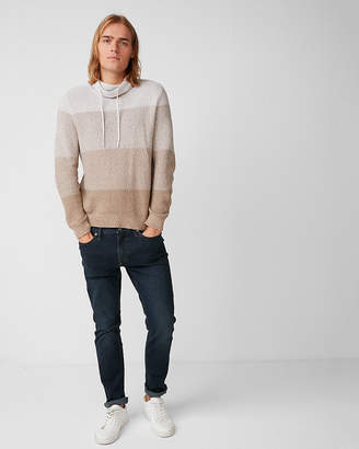 Express Ombre Marled Funnel Neck Sweater