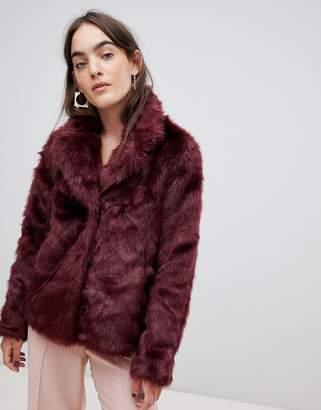 B.young Shaggy Faux Fur Coat