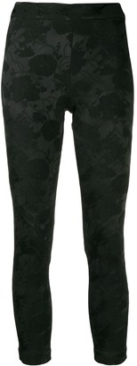 Ann Demeulemeester cropped embroidered floral leggings