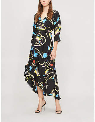 Diane von Furstenberg Asymmetric silk midi dress