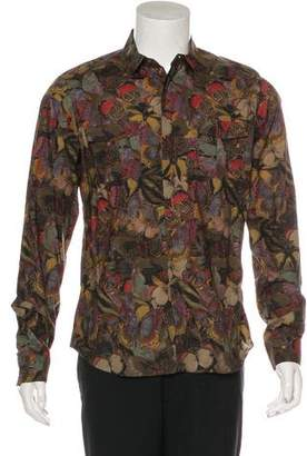 Valentino Camubutterfly Print Shirt
