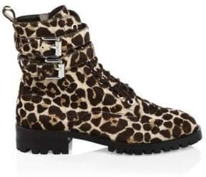 Rebecca Minkoff Jaiden Leopard Print Combat Boots