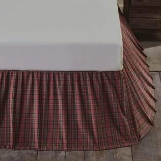 Ashton & Willow Brick Red Rustic & Lodge Bedding Tartan Red Plaid Cotton Split Corners Gathered Plaid King Bed Skirt