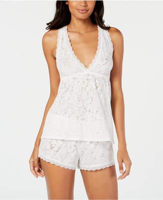 Flora Nikrooz Flora by Bisou Lace-Trim Camisole Pajama Set