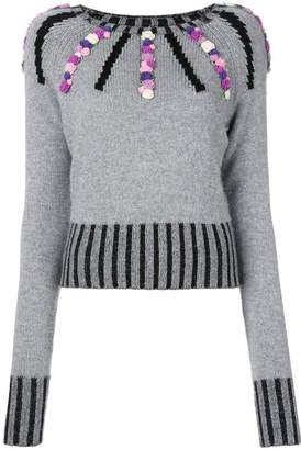 Olympia Le-Tan cashmere Margot embroidered sweater
