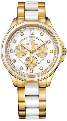 Juicy Couture Women's Gwen Two-Tone Crystal Bracelet Watch $275 thestylecure.com