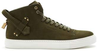 Buscemi 100mm Clean suede high-top trainers
