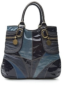 Stella McCartney Metallic Patent Patchwork Tote