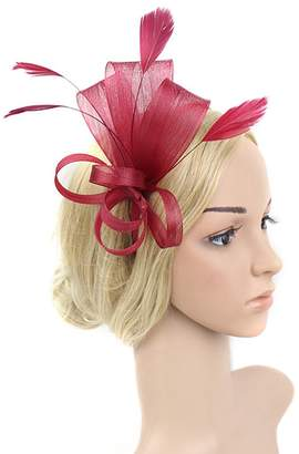 Yiweir Women Fascinator Hair Clip Cocktail Wedding Headwear Flower funeral
