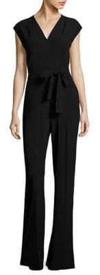 Escada Tfeda Belted Flared Jumpsuit