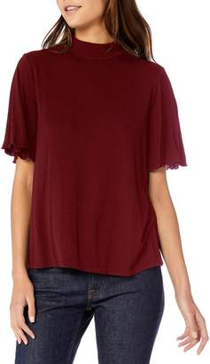Michael Stars Back Cutout Frill Sleeve Top