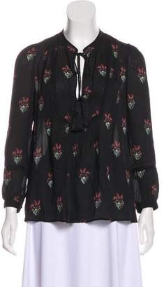 A.L.C. Printed Silk Blouse