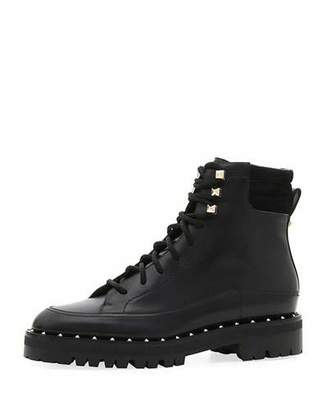 Valentino Soul Rockstud Leather Combat Boots