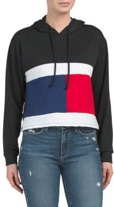 Juniors Boxy Color Block Hoodie