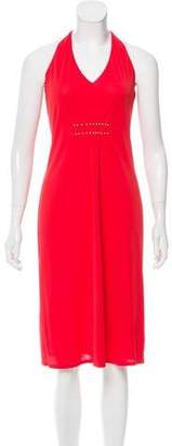 Philosophy di Alberta Ferretti Embellished Halter Dress
