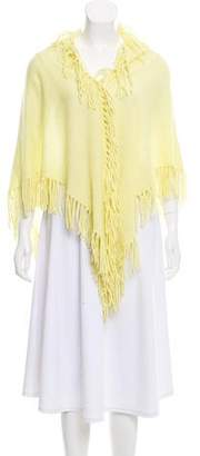 Minnie Rose Fringe-Trimmed Cashmere Shawl